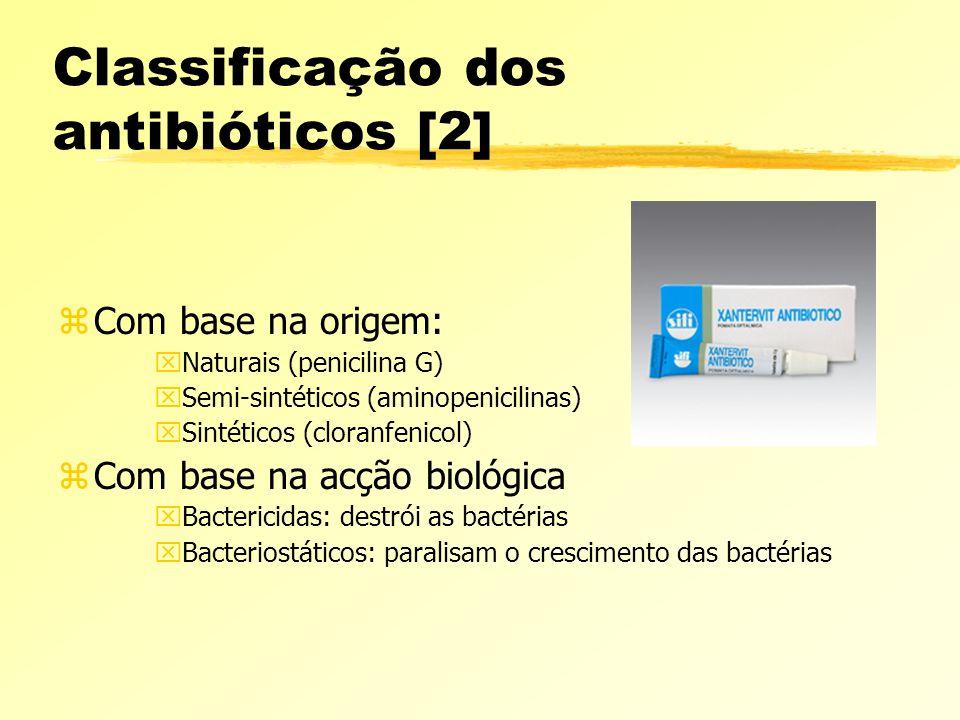 Classificação dos antibióticos [2]